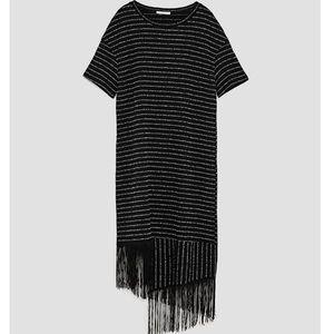 Zara rustic fringe dress